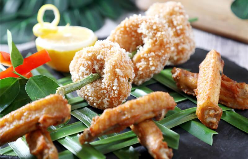 泰式鸡翅虾饼